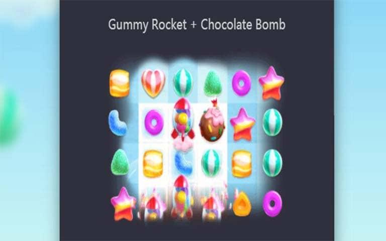 Feature Gummy Rocket+Chocolate bomb